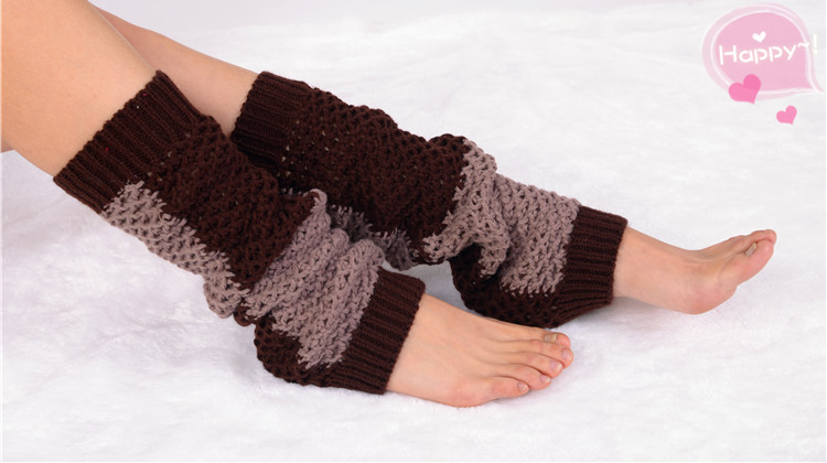 Hollow Out Knitting Leg Warmers,Knit Knee Socks Boot Cotton Thigh High Socks ...